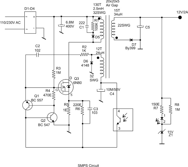 Simple 12V SMPS Circuit